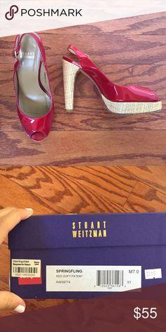 Red Stuart Weitzman Pumps super cute great condition Stuart Weitzman Shoes Platforms
