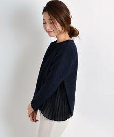 SHIPS for women dress(シップスフォーウィメンドレス)のスライバーブラウス311160045(シャツ/ブラウス)|ネイビー