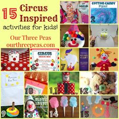 15 Circus Inspired Activities for Kids - Our Three Peas