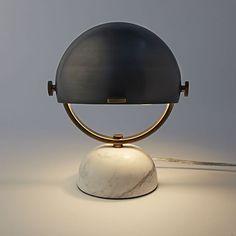 STORAGE AREA DESK LAMP option Clint Task Lamp - Marble / Matte Black | West Elm
