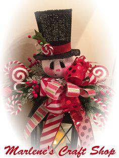 Two Snowman lantern Swags, One Gingerbread lantern Swag, Lantern Christmas decoration