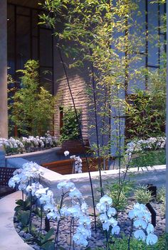 The two-story indoor Healing Garden at the Dana-Farber Yawkey Center for Cancer Care.
