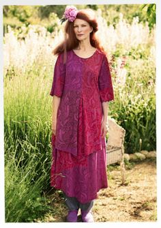 """""""Klematis"""" viscose tunic – Trailing flowers – GUDRUN SJÖDÉN – Webshop, mail order and boutiques 