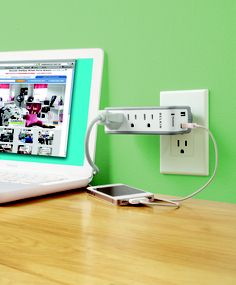 Get 3 extra outlets with this cordless, mini surge protector.