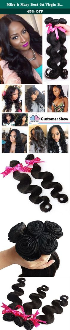 """Mike & Mary Best 6A Virgin Brazilian Hair Body Wave 4 Bundles 100g/Bundle Natural Color Virgin Human Hair Weaves (10"""" 10"""" 10"""" 10"""", Natural Color). Questions and Answers 1) How many bundles do I need to have a full head? You won't need any more hair than what we send you. 3 bundles is enough for a full head, if you have thin hair, you can try to buy 4 bundles. 2) Did anyone have problems with hair tangling or shedding? Also, does it easily curl? No, there is no problem with hair tangling…"""