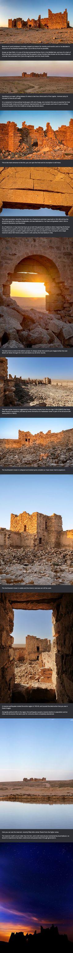 Untouched Roman Fort in the Jordanian Desert ...