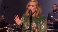 Adele performs Hello live for the first time on BBC special