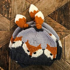 Ravelry: Fox hat pattern by Eva Norum Olsen hat kids ravelry Fox Hat Knitted Hats Kids, Knitting For Kids, Knitting Projects, Baby Knitting, Crochet Bebe, Knit Or Crochet, Crochet Hats, Knitting Patterns Free, Crochet Patterns