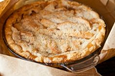 The MOST incredible Apple Pie that will ever touch your lips. Baked inside of a BROWN PAPER BAG,