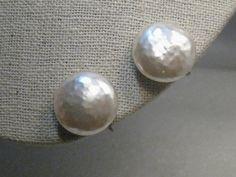 """Vintage Miriam Haskell Baroque Pearl Earrings, Screw Back, 1940's, 3/4"""""""