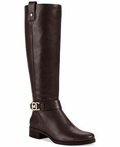 MICHAEL Michael Kors Boots, Charm Riding Boots - Shoes - Macy's