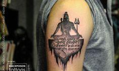 shiva mantra tattoo Best Tattoo Artist in India Black Poison Tattoo Studio – Great Tattoos Ahmedabad, Dot Work Tattoo, Arm Tattoo, Sleeve Tattoos, Armband Tattoo, Chest Tattoo, Trendy Tattoos, New Tattoos, Cool Tattoos