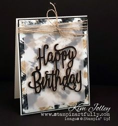 """Wouldn't this make an awesome """"guy card? I used Crumb Cake and Memento Tuxedo black ink for this one."""