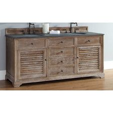 "Savannah 72"" Double Cabinet Bathroom Vanity Set"