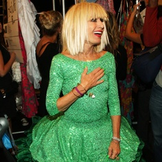 Betsey Johnson. In her 70s and still rockin fashion and being herself.