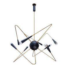 Atomic Sputnik Chandelier - Image 1 of 11 Gender Neutral Bedrooms, Atomic Decor, Sputnik Chandelier, Mid-century Modern, Mid Century, House Design, Interior, Furniture, Lighting