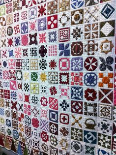 "Dear Jane:  ""High Expectation"" by Kerry Fondren; 1st place, mixed techniques solo, Quilters Anonymous show.  Artist's statement:  ""I fell in love with this quilt but took the next six years and ten months to make it.  There are exactly 5,301 pieces of fabric stitched together.  Hand and machine-pieced, hand appliqued, hand and machine quilted.  Posted by Pacific Fabrics"