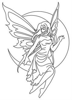 Fresh, creative designs and tutorials for machine and hand embroidery. Fairy Coloring Pages, Adult Coloring Book Pages, Coloring Books, Urban Threads, Wood Burning Patterns, Fairy Art, Pyrography, Tattoo Drawings, Art Images