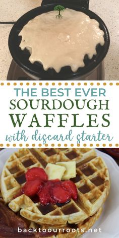These sourdough waffles are a great solution to what to do with the discard when you feed your starter. Simple and delicious. What more could you ask for?