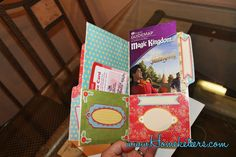 How to Make a Mini Pocket Folder Organizer with a Manilla File Folder. I'm not a scrapbooker, but I like this idea for saving travel memorabilia!