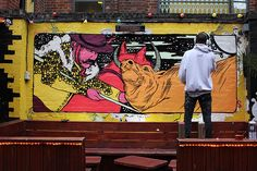BORKEN FINGAZ CREW Tant _ Outdoor Mural _ London, UK