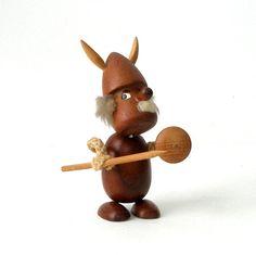 Vintage+Teak+Viking+Warrior+Figural+Dude+Sculpture++by+FultonLane