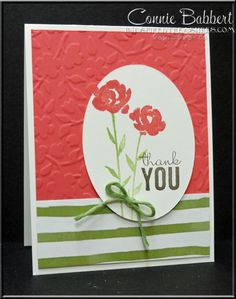 It's Day 4 of PREVIEW WEEK for the Spring Collection of Create with Connie and Mary.  I have another CAS Painted Petals card for you!  Stampin' Up!, #stampinup, flowers, Connie Babbert, www.inkspiredtreasures.com