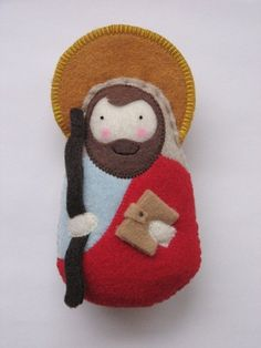 Saintly Silver has been designing Saint Softies for over 9 years, and the original Saint Softie seller. :) PLEASE NOTE: The color of felt in this item could differ slightly to moderately from the one pictured. We have changed our felt manufacturer to provide a higher quality felt for our product. Our new felt is a wool blended felt. We are in the process of changing all listings to reflect the new felt colors, however, with over 415 current designs this process will take time. If you are…