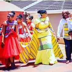 Traditional Sotho Wedding Dresses Venda 2019 • stylish f9 South African Wedding Dress, African Wedding Attire, African Attire, African Wear, African Dress, African Style, African Beauty, Venda Traditional Attire, Traditional Wedding Attire