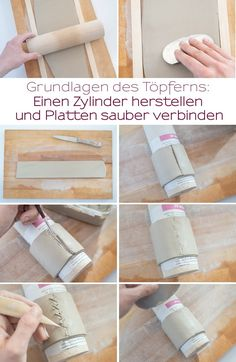 Mein Töpfertagebuch Grundlegende Techniken und mini Blumentöpfe – Leelah Loves Instructions for self-made mini tripod flower pots made of clay with explanation of the basics for potters beginners Clay Flower Pots, Clay Pots, Slab Pottery, Ceramic Pottery, Clay Projects, Clay Crafts, Flower Crafts, Diy Flowers, Pottery Techniques