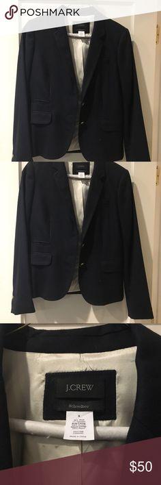 J. Crew Schoolboy Wool Blazer in Navy - Size 6 Barely worn, iconic J Crew navy schoolboy blazer. Perfect for work or weekend. 100% Wool. Perfect for work or weekend. J. Crew Jackets & Coats Blazers