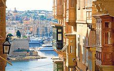 Malta, balconies, sea, churches, all in one picture