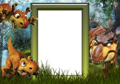Kids PNG Photo Frame with Dinosaurs
