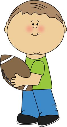 Boy Carrying a Football
