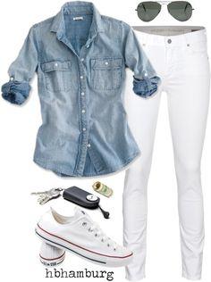 ¿Cómo combinar un pantalón blanco