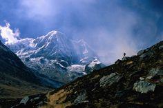 Himalayan fog over the Annapurnas Ranges.