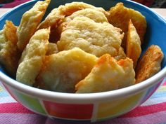 butter + cheese + flour = cheesy nibbles (yup, that's 3 ingredients, baked)