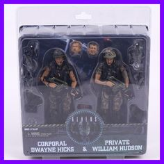 NECA Aliens Corporal Dwayne Hicks & Private William Hudson PVC Action Figure Collectible Model Toy 2-pack