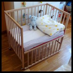 SNIGLAR co-sleeper crib @Deborah Unwin here is a tutorial (in case you're like me and need to see it)!!!  haha