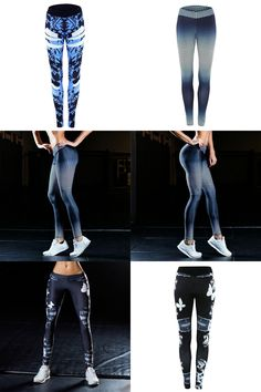 [Visit to Buy] Women Sports Yoga Pants 3D Printed Jogging Gym Running Tights Exercise Female Fitness Sportwear Trousers Leggings Outdoor #Advertisement