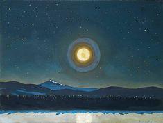Rockwell, Kent , Moonlight in the Adirondacks, 1960