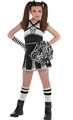 girls rah rah rebel cheerleader costume - Skelita Calaveras Halloween Costume