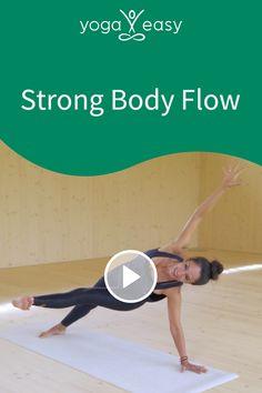Du bist müde, kaputt oder kommst nicht richtig in die Gänge? Nach diesem knackigen und zügigen Flow bist du auf jeden Fall wach und munter. Nach dem anstrengenden Part kommst du durch entspannende Übungen und das Shavasana in die Balance und fühlst dich erholt. Munter, Yoga Video, Online Yoga, Strong Body, Videos, Flow