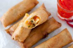 vårrull Thai Recipes, Asian Recipes, Thai Spring Rolls, Recipe Boards, Main Meals, Fresh Rolls, Starters, Buffet, Recipies