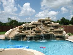 pool with the waterfalls. Yard Crashers, Diy Network, Waterfalls, Pools, Outdoors, Outdoor Decor, Ideas, Home, Landscape Architecture