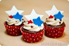 July 4th Cupcake Topper