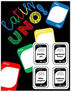 Have your students practice numbers & current vocabulary by choosing the WILD cards! Latin Language, Dual Language, Teaching Latin, Teaching Ideas, Uno Cards, Classroom Games, Cultural Diversity, Classroom Inspiration, Activity Games