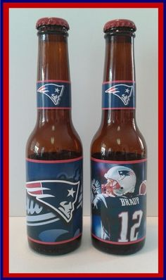 New England #Patriots / Tom Brady ( 2 Pack - 7oz Beer Bottles ) from $19.95
