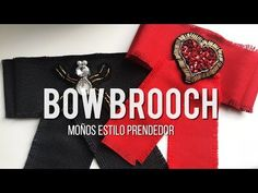 Bow Brooch: Moños tipo prendedor - YouTube