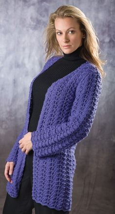 Knitting Patterns Summer Jackets : free womens sleeveless cardigan crochet pattern with fantasy stitch cr...